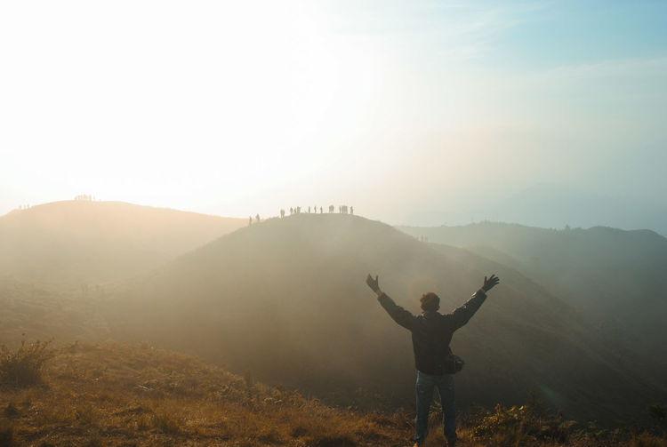 Sunrise mount prau, indonesia