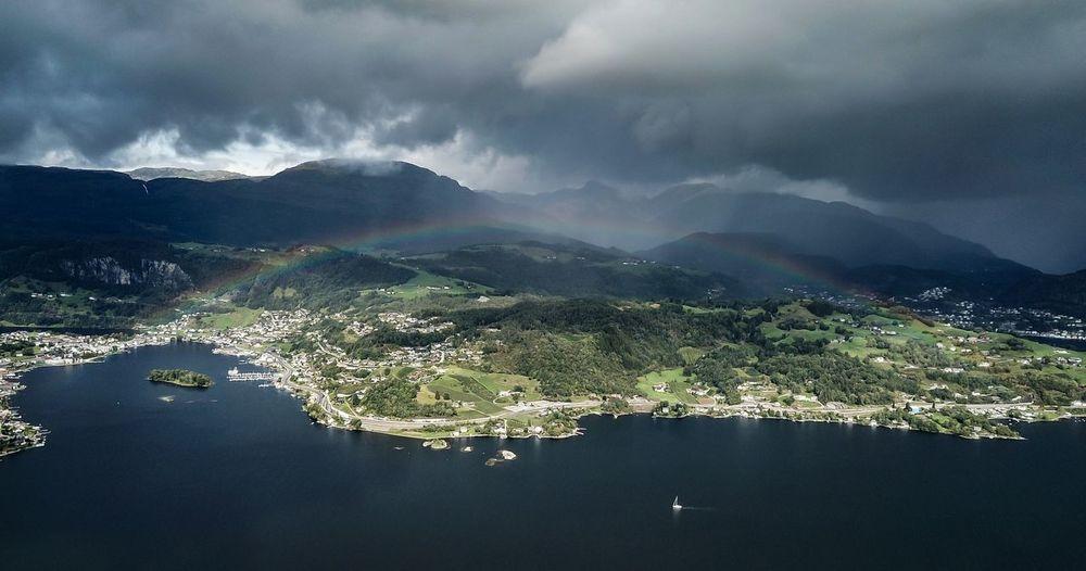 Rainbow between