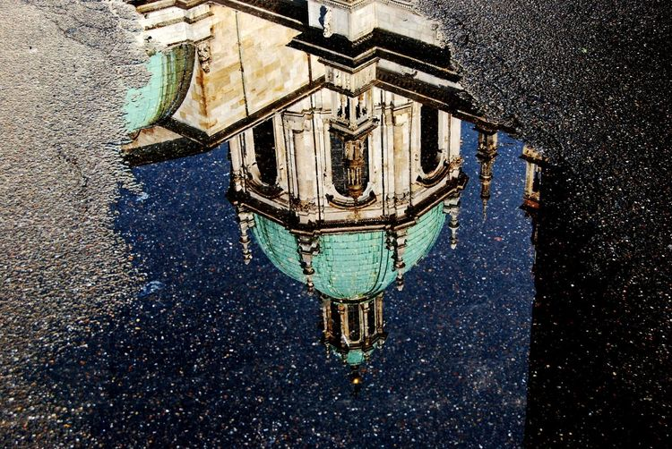 Urban 4 Filter Como Duomo Di Como Water Reflections Looking To The Other Side