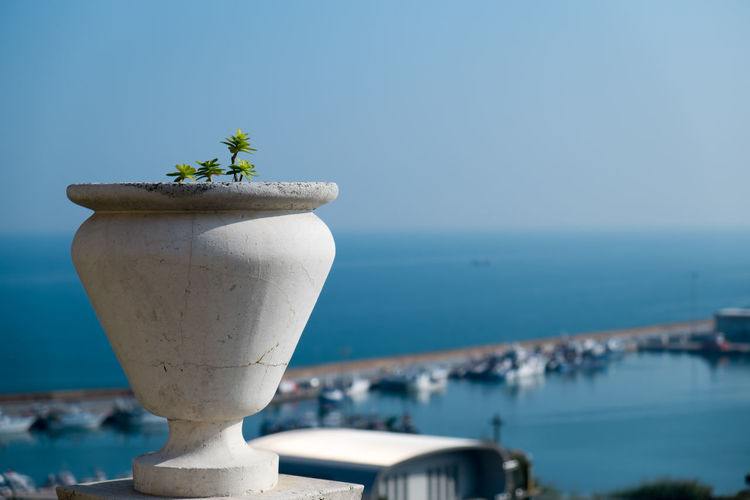 Ortona, Italy Abruzzo Abruzzo - Italy Beauty In Nature Blue Close-up Day Focus On Foreground Growth Horizon Over Water Idyllic Nature No People Ocean Ortona Outdoors Plant Port Scenics Sea Sea And Sky Selective Focus Sky Tranquil Scene Tranquility Water