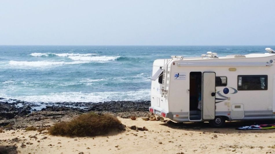 My house on the beach Sea Beach Wave Vacations Travel Destinations Van Caravan Trailer Camper Campervan Camperlife Mobile Home Vanlife Caravan Palace Caravan Livin' Caravan Life Globetrotter Home In The Beach Quality Time