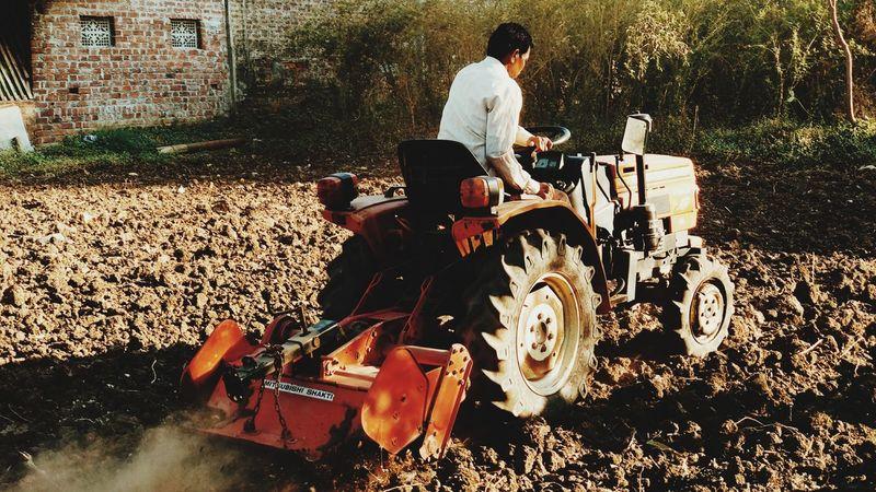 #tractor #farm #hardwork
