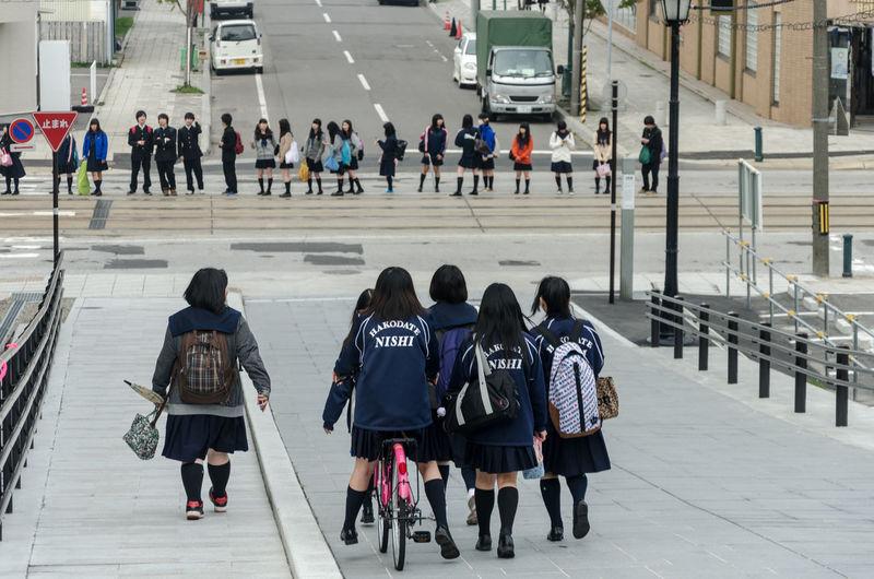 Hakodate, Japan Hakodate Hokkaido Hokkaido Japan Japan Japan Photography Nihon Nihon Koku Nippon Nippon Koku Nippon Photography School Schoolgirls Travel Travel Photography 函館市 日本国