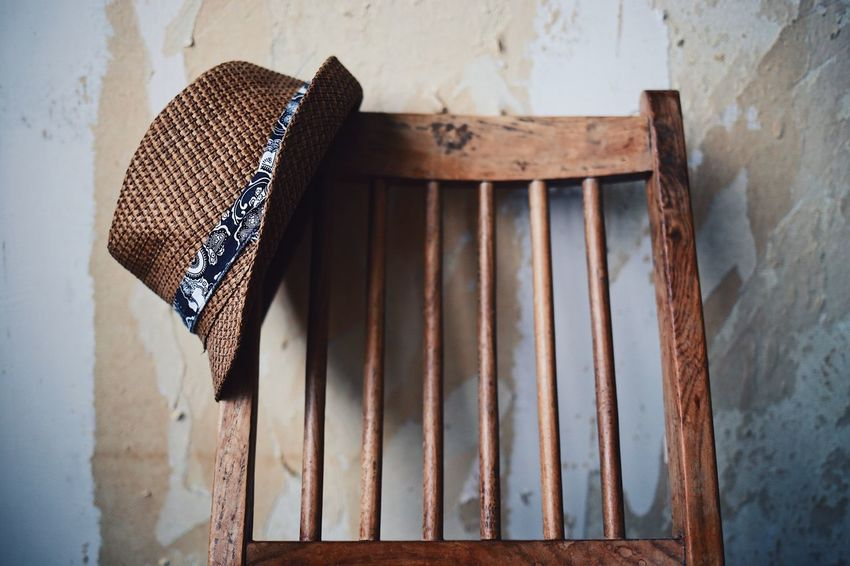 No People Day Food Outdoors Close-up Wallpapers Wall Art Low Angle View Home Interior Still Life Still Life Photography Hanging Chair Indoors  Background Wooden Texture Gentleman  Hat Seat