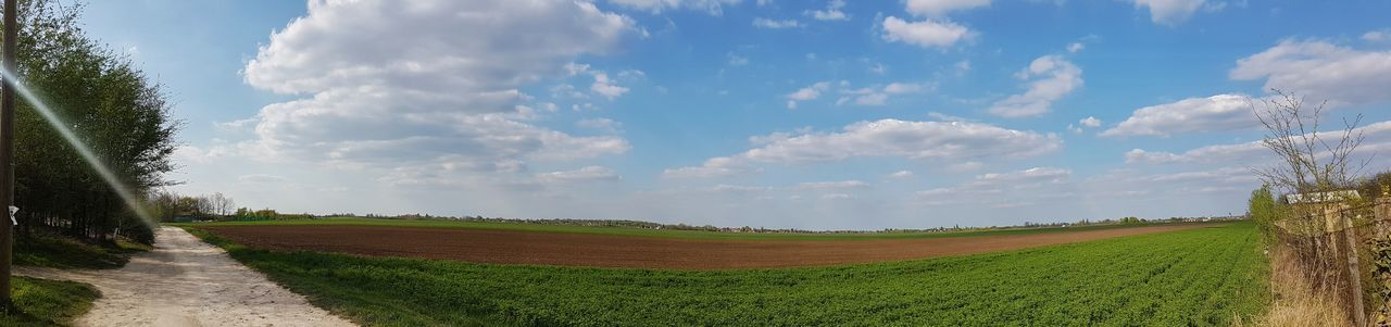 Agriculture Cloud - Sky Rural Scene Field Sky Beauty In Nature No People Nature Outdoors Landscape Grass Freshness Full Length Mobilephotography Galaxys7 Justaonemoreday Sky And Clouds Panoramic Landscape Panoramic View Panoramashot Panoramic Photography Serbian Photos Serbia EyeEmNewHere