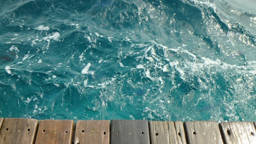 Beauty In Nature Close-up Day Maldives Motion Nature No People Ocean Outdoors Sea Water Wave Wood - Material