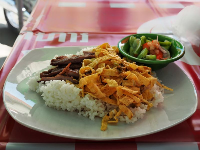 Phnom Penh street food Traditional Food Breakfast Khmer Culture Cambodian Street Food Rice Egg Pork Cambodia Street Food Phnom Penh Food And Drink Food Plate Ready-to-eat Freshness Rice - Food Staple Serving Size