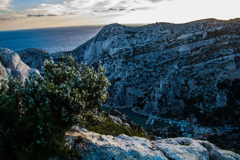 marseille,calanque,bouche du rhone, france Water Beauty In Nature Sea Scenics - Nature Rock Tranquil Scene Rock - Object Tranquility Sky Nature Solid No People Rock Formation Land Plant Beach Non-urban Scene Mountain Idyllic Outdoors Formation Eroded