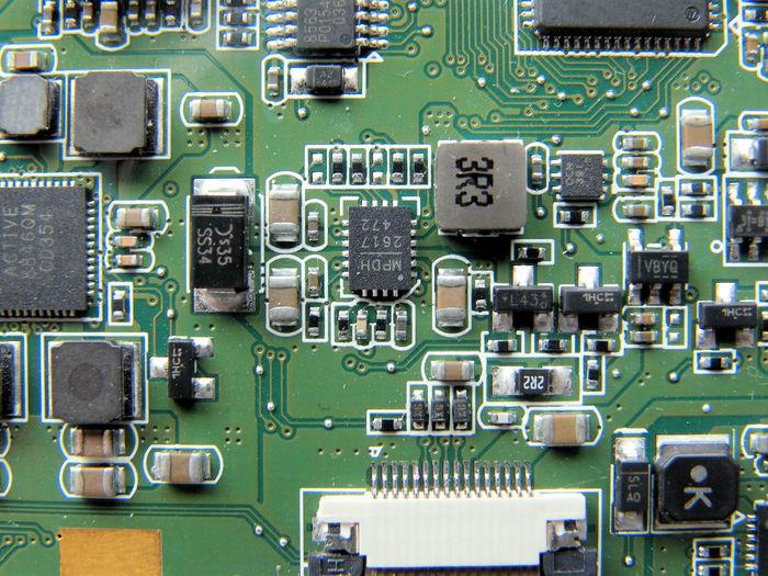 Full frame shot of motherboard