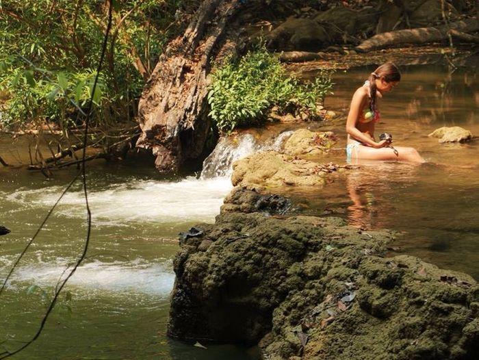 Lumix Waterfall Bikini Vacation Time Thailand