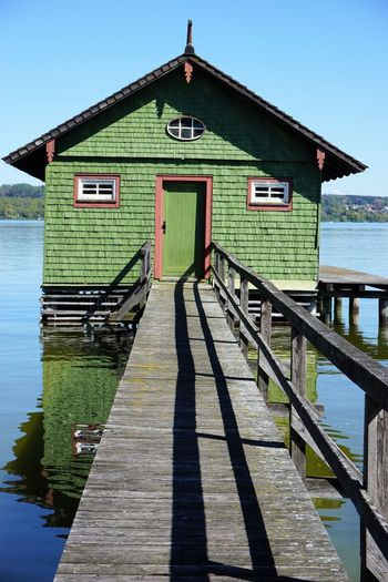Architecture Boathouse Built Structure Day House Nature Nautical Vessel No People Outdoors Sky Water Wood - Material