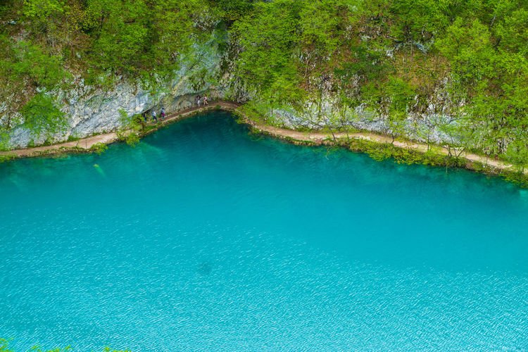 Beauty In Nature Blue Calm Day Green Green Color Growth Idyllic Nature No People Non-urban Scene Outdoors Plant Plitvice Lakes National Park Plitvice National Park Reflection Remote Scenics Standing Water Tranquil Scene Tranquility Tree Turquoise Colored Water Waterfalls