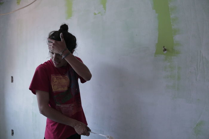 Backgrounds Blackandwhite Cousin Manbun Mexico Painting Person Wall Painting