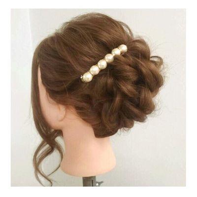 ヘアセット Hairアレンジ ヘアアレンジ Hair 美容院 手作りアクセサリー セットサロン 大人可愛い♡シンプル♡