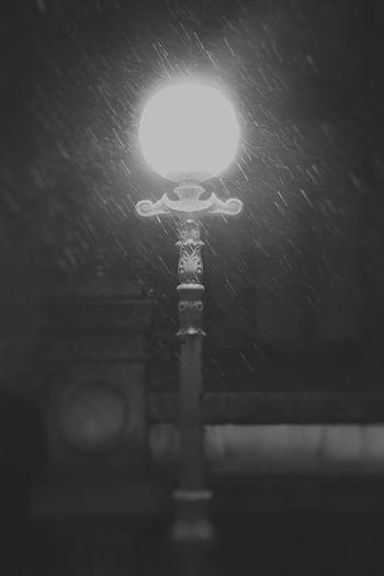 Night Tears Myworld Beauty Sadness Night Lights Lamp Drops Rain Night Illuminated No People Low Angle View Outdoors Close-up