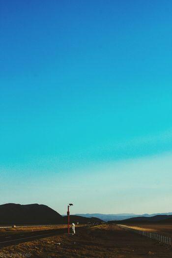 Lejos, lejos Jalisco Road Blue Dry Laguna Seca Vanishing Point
