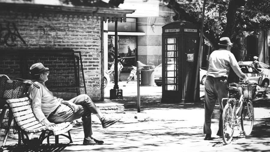 Biclycle Oldmen Streetphotography Barber Full Length Sitting Men Old-fashioned Occupation Working Casual Clothing