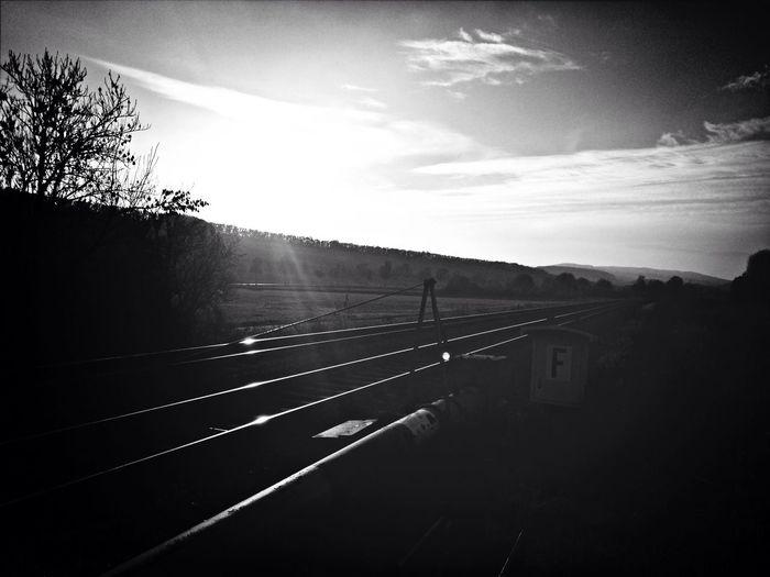 Sunset Waiting Train