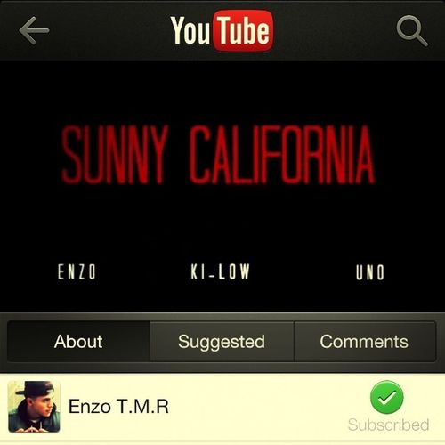 If You Havnt Already Go Out And Check Out The New Song On Youtube (Sunny California- Enzo & Ki-Low Ft Uno) Check It Out Like And Subscribe!