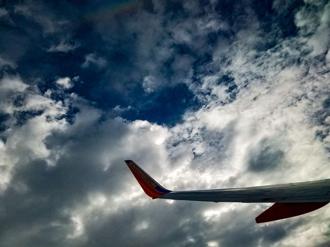 Cloud - Sky Sky Flying Outdoors No People Day Airplane Nature Flying High May 2017 Clouds Over The Clouds Motion White Cloudscape Veiw From Above Aerial View Mid-air Transportation Aircraft Wing Commercial Airplane Southwest Airlines Window Seat Airplane Wing Window Seat Plane The Great Outdoors - 2017 EyeEm Awards