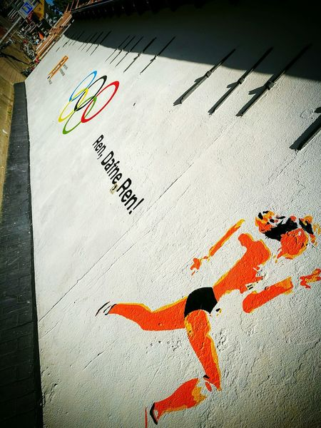 Street art Utrecht Os2016 Dafne Schippers Olympics Rio Athletics Utrecht 030 Colour Of Life Dutch Schippers Rings Holland Streetart