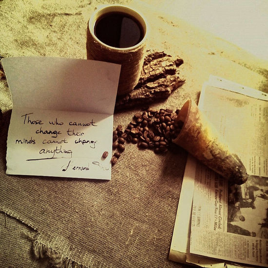 Text Coffee Grains Coffee Newpaper Flax Good Morning Horn