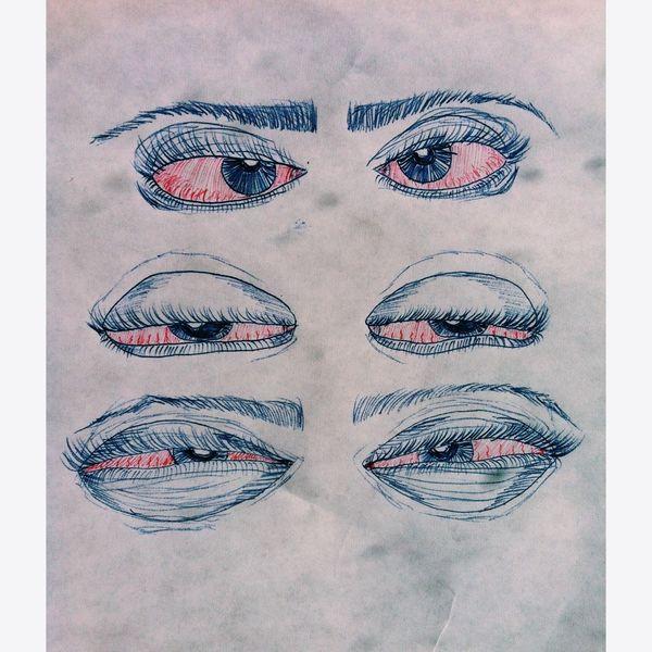 High High Eyes Drugs MyArt