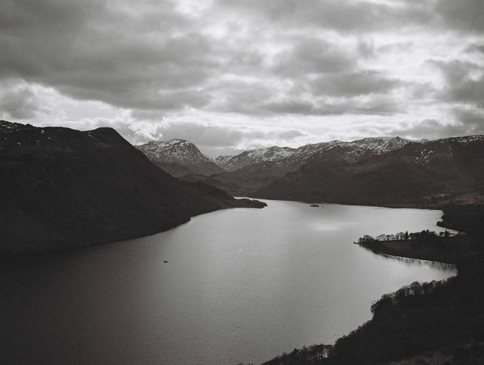 Cumbria Lake District Ullswater Beauty In Nature Black And White Cloud - Sky Day Environment Idyllic Land Mountain Mountain Range Nature No People Non-urban Scene Outdoors Overcast Scenics - Nature Sky Tranquil Scene Tranquility Water