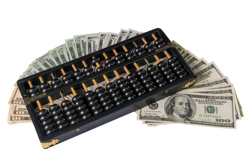 Money talk. Abacus Abacus Beads Business Concepts Cashier Machine Currency Dollar Bill Financial History International Money Counter Money Talk Paper Currency Wealth White Background