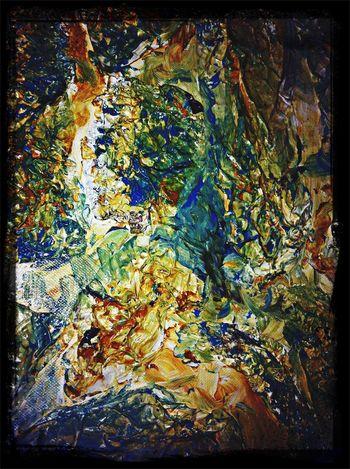 Eigen art. Arylverf met Alu-folie. My Art The World Around Me Creative