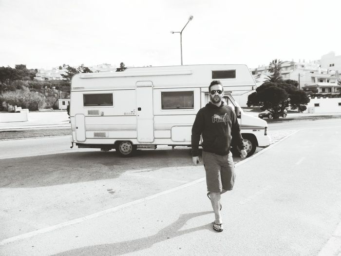 Retrocamper BeW Outdoors Caravanning Roadtrips Beach One Man Only Traveling Buarcos CasualphotographylLoveit