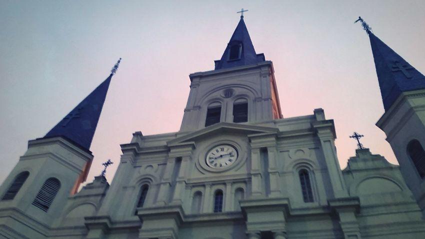 NOLA Neworleans Stlouiscathedral Sunset Church Architecture