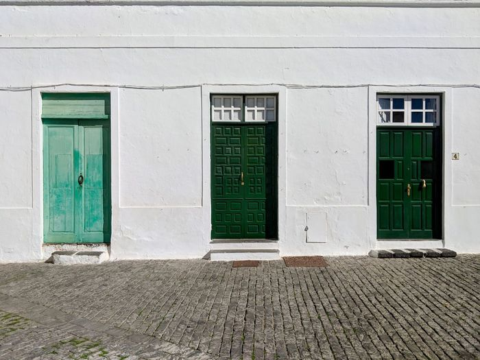 Architecture Built Structure Building Exterior Door Entrance No People House Residential District Green Color Street Exterior