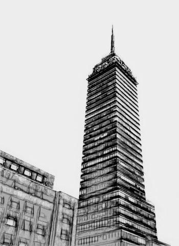 Torre Latino Blanco & Negro  Black & White Photography Mexico Mexico City Architecture Edition Street