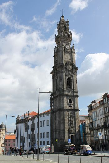 Architecture Building Exterior Built Structure City Day Frainf Low Angle View No People Oporto Outdoors Portugal Sky Torre Dos Clérigos Travel Destinations