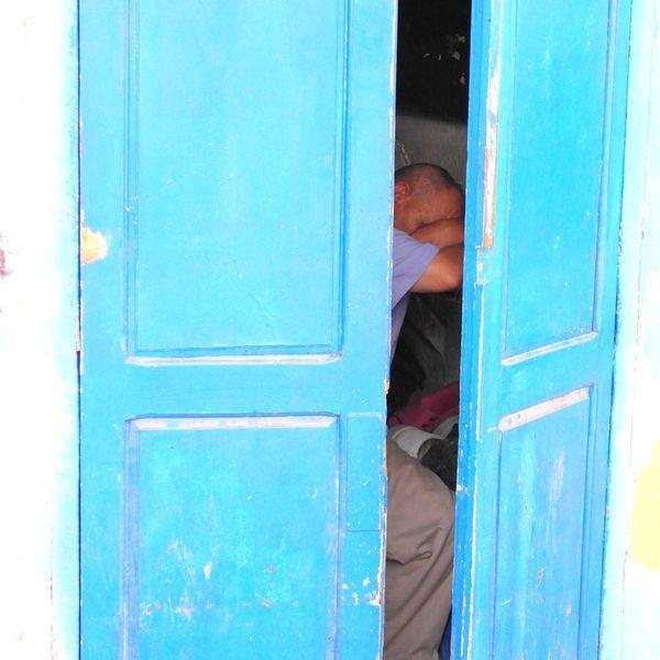 Sleeping Beauty Morocco Tired Shopkeeper