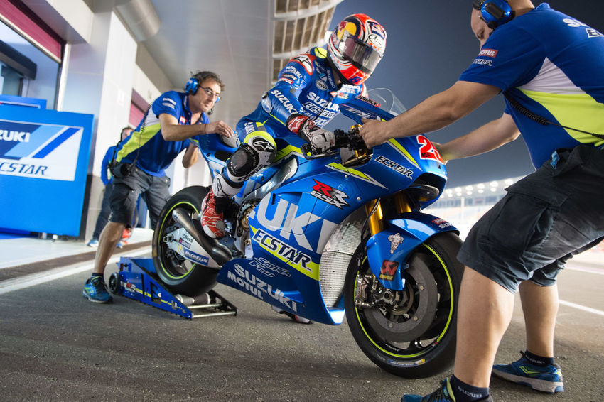 MotoGP riders during the final preseason test before the start of the 2016 MotoGP season Losail LosailCircuit MaverickVinales Motogp MotoGP2016 Motorcycle Motorsports Preseason Qatar Race Racing Test