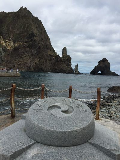 Dokdo Beauty In Nature IPhoneography Nature No People Outdoors Rock Sea Sky Water