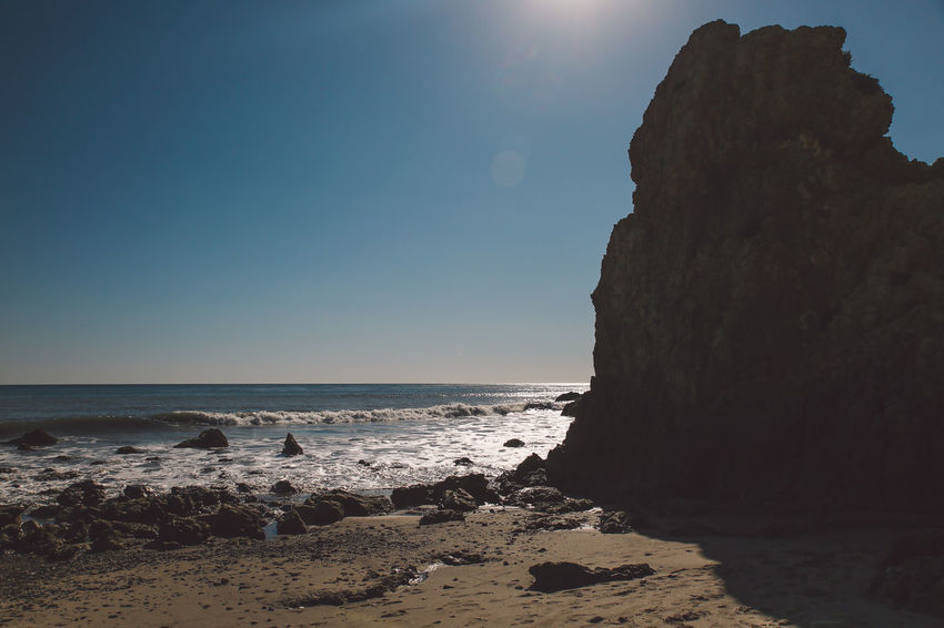 California El Matador Beach Pacific Beach Beauty In Nature Clear Sky Day Horizon Over Water Nature No People Ocean Outdoors Rock - Object Rock Formation Sand Scenics Sea Sky Sunlight Tranquil Scene Tranquility Travel Destinations Water Wave California Dreamin
