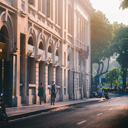 Travel City Life Cityscape Hello World Light Travel Adult Architectural Column Architecture Built Structure City Couple - Relationship Day Hanoi Vietnam  Landscape Men Outdoors People Real People Sunlight And Shadow Sunset Travel Destinations Walking Around The City  Connected By Travel