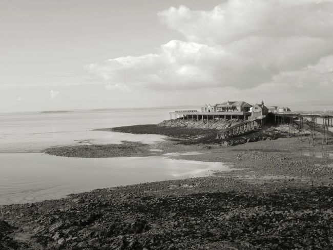 Haunting looking pier in Weston-super-mare Sand Nature Beach Day No People Outdoors Sky Cloud - Sky Water Sea Horizon Over Water Pier Old Ruin Nature Black And White Beach Still Life Miles Away