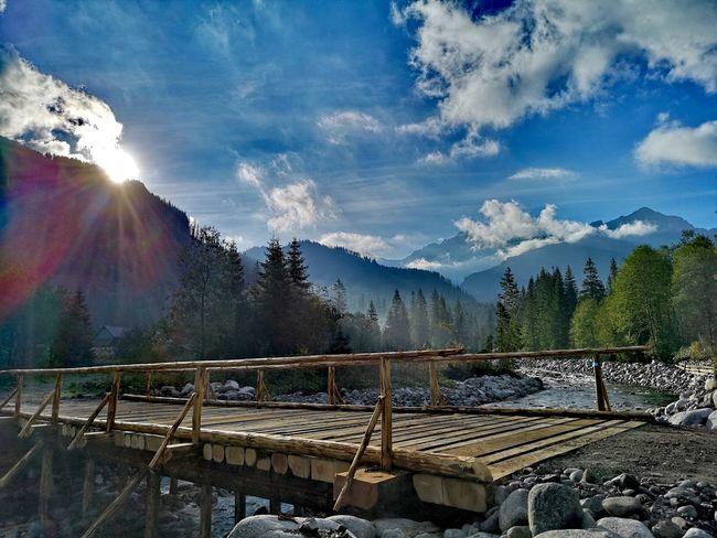Bridge over troubled water Bridge Sky Nature Mountain Tatra Mountains Sunset EyeEmNewHere