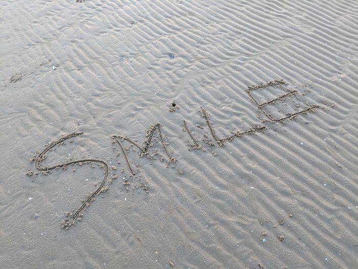 smile Weston-super-mare Beach Beauty In Nature Somerset England Somerset Water Autumn Backgrounds Track - Imprint Full Frame High Angle View Tire Track FootPrint Written Sandy Beach Calm Information Handwriting  Wave Pattern Drawn Shore