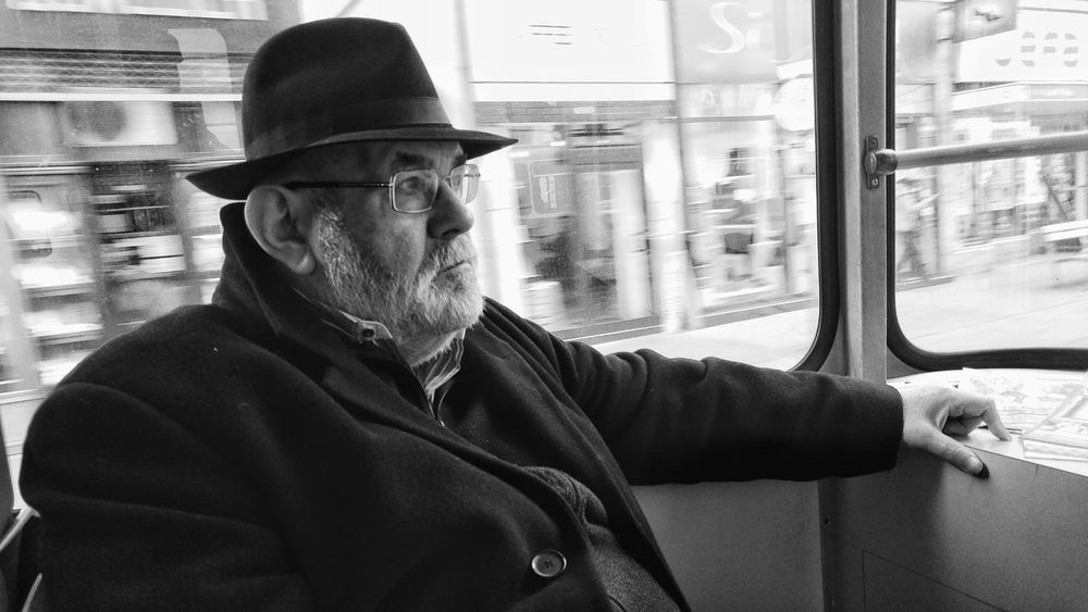 Hat Only Men One Man Only One Person Adult Adults Only Men Portrait Day People Outdoors Transportation Streetphotography Indoors  Commuter Train Mode Of Transport Public Transportation Rail Transportation Point Of View Blackandwhite Vienna Black And White Streetphoto_bw From My Point Of View Vienna, Austria Vienna
