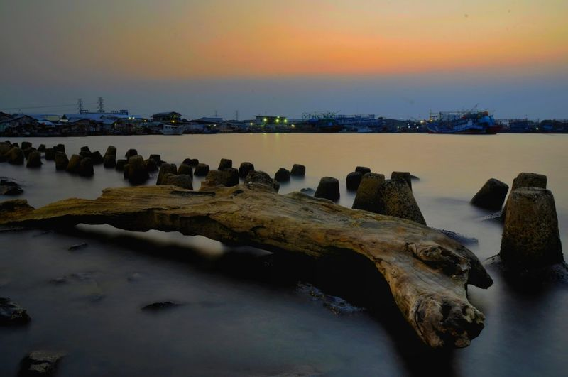 Landscape Photo from Muara Angke Water Sunset Sea Beach Low Tide Astronomy Beauty Bird Winter Reflection Seascape