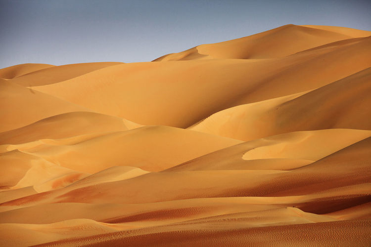 Alone Arid Climate Beauty In Nature Clear Sky Desert Deserts Around The World Dunes Extreme Terrain Famous Place Landscape Nature Outdoors Physical Geography Remote Sand Sand Dune Scenics Solitude Tranquil Scene Tranquility Wave Pattern Waves