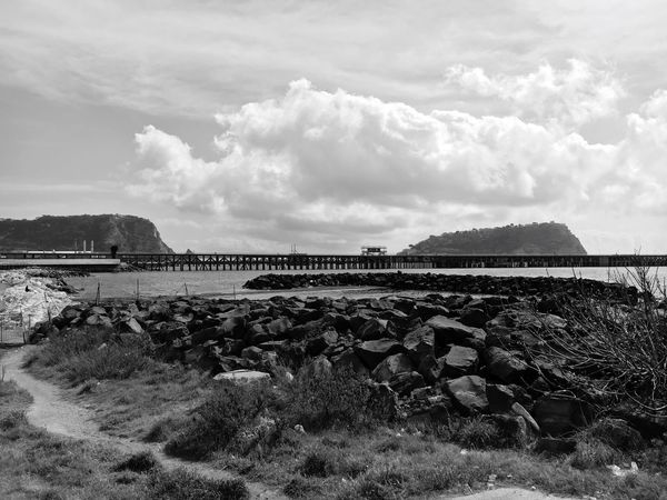 La martoriata terra dei Ciclopi Nature Day Cloud - Sky Scenics No People Beauty In Nature Outdoors Water Tranquil Scene Tranquility Architecture Sea Landscape Industrial Photography Industrial Architecture Blackandwhite Black And White Black & White Blackandwhite Photography Black And White Photography