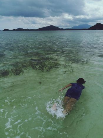 Beach Water Sea Sand Cloud - Sky Outdoors SwimmingNo People Day Nature Landscape Beauty In Nature Sky Snorkeling Swim Horizon Over Water INDONESIA Lampung