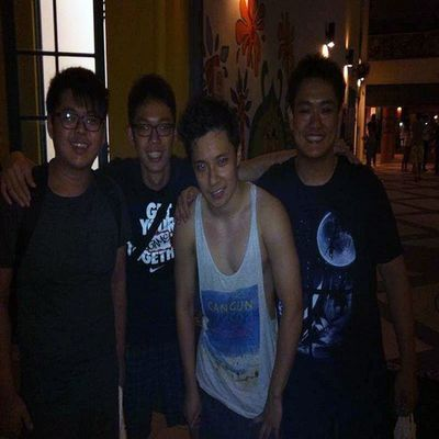 after my wrestling match.thanks for coming guys <3