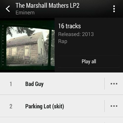 On repeat since the 5th ! Eminem MarshallMathers E Music Rap TMMLP2 SlimShaddy